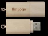 USB Stick Holz Logo Gravur