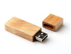 Rectangle wood USB